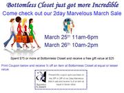 Bottom Closet 2day Marvelous March Sale