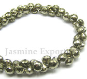 Faceted Pyrite Beads Wholesale