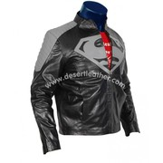 Marvelous Superman Black Jacket | Superman Black And Grey Leather Jack