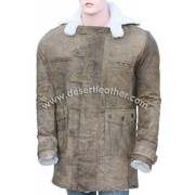 Distressed Real Leather Bane Coat
