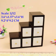 1:12 Dollhouse miniature Wood furniture black and white brief ladder