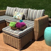 Patio Wicker 4 Piece Sofa Set on Sale