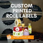 Custom printed roll labels